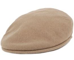 Wool 504 Camel Flat Cap - Kangol