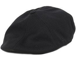 Wool 504 Black Flexfit Flat Cap - Kangol