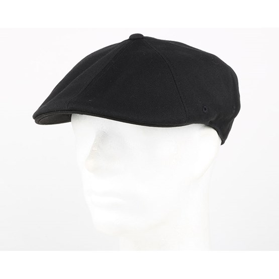 e3228c6481dfc Wool 504 Black Flexfit Flat Cap - Kangol caps - Hatstoreaustralia.com