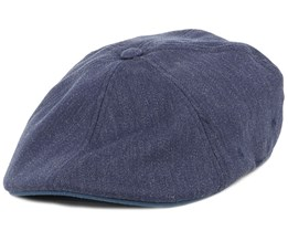 Wool 504 Denim Flexfit Flat Cap - Kangol
