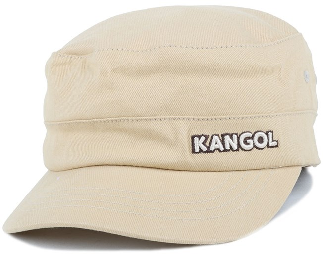 Cotton Twill Army Cap Beige Flexfit - Kangol caps