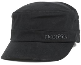 Cotton Twill Army Cap Black Flexfit - Kangol