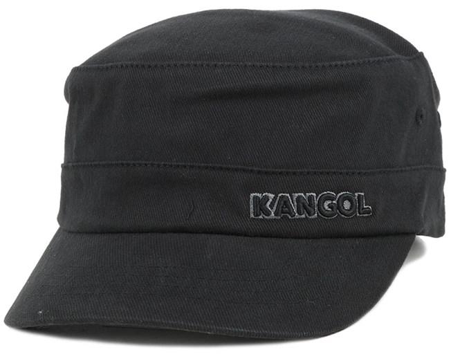 7aeef551524 Cotton Twill Army Cap Black Flexfit - Kangol caps - Hatstoreworld.com
