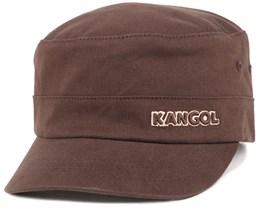 Cotton Twill Army Cap Brown Flexfit - Kangol
