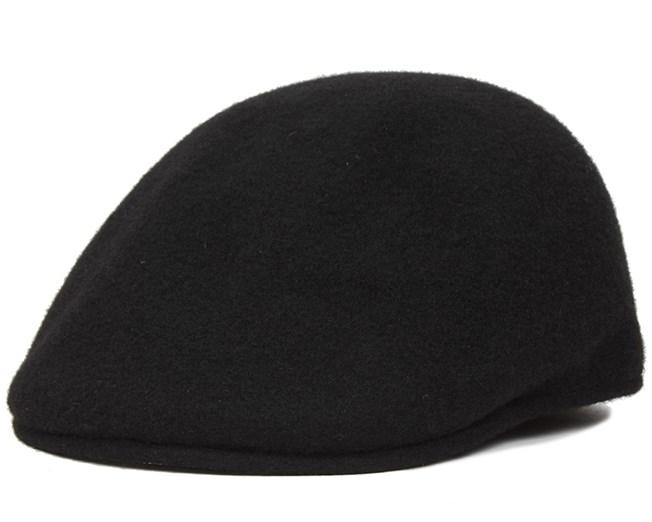 Seamless Wool 507 Black Flat Cap - Kangol