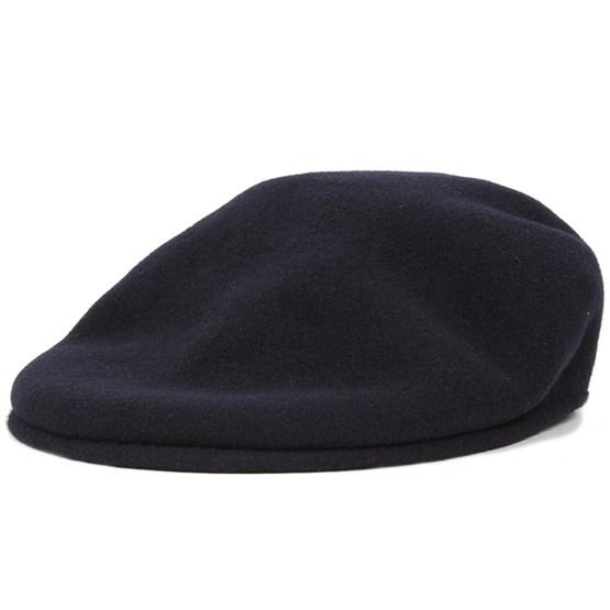 71f69c0c4b2 Wool 504 Dark Blue Flat Cap - Kangol caps - Hatstoreworld.com