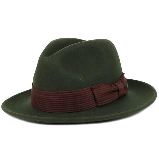 Hatt Nelson Moss Fedora - Brixton - Grön Fedora