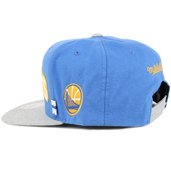 565d42a3b Golden State Warriors Royal/Grey Training Room Snapback - Mitchell & Ness