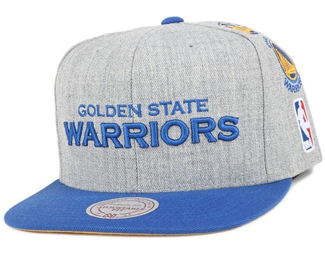 a6616242ed0 Golden State Warriors Team Logo History Grey Snapback - Mitchell   Ness