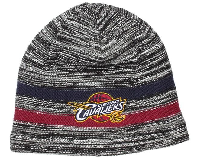 869970425c9 Cleveland Cavaliers Static Team Stripe Beanie - Mitchell   Ness ...