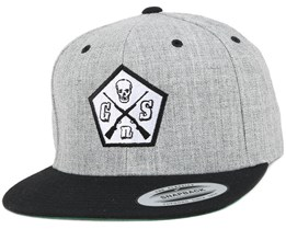 Pentagon Black/Grey Snapback - GUNS n SKULLS