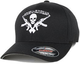 Logo Black Flexfit - GUNS n SKULLS