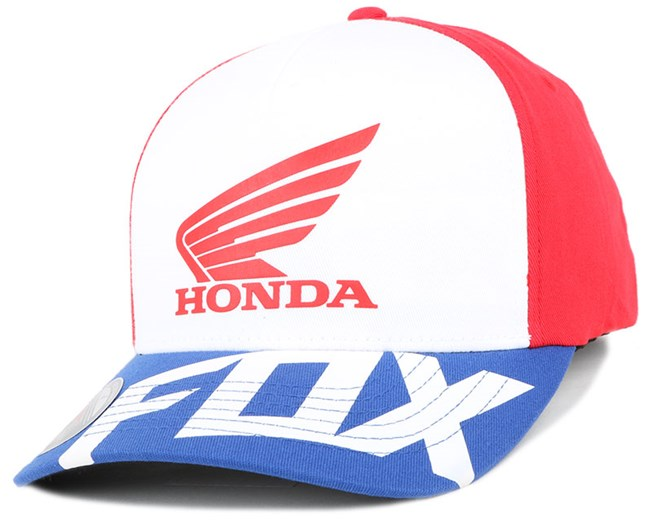 Honda Basic Red White Flexfit - Fox caps  c5804e07db3