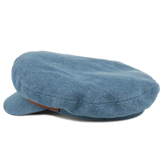 Fiddler Light Denim Flat Cap - Brixton caps  489e4a491417