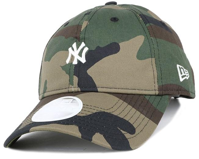 NY Yankees Mini Logo Essential Woman Camo 940 Adjustable - New Era ... 9f3ab9265f3