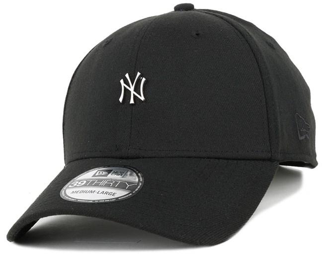 NY Yankees MLB Metal Mini Logo Black 39Thirty Flexfit - New Era caps ... f52f9dbf03b