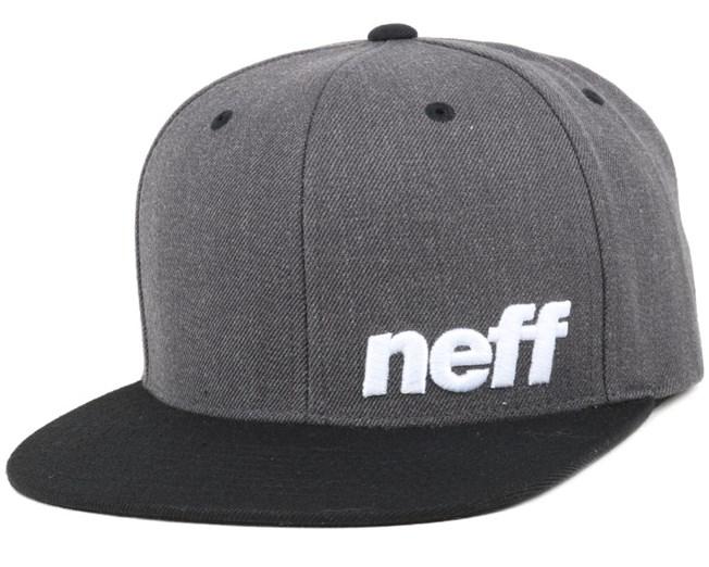 1aa1c74d182941 Daily Cap Dark Grey/Black Snapback - Neff caps   Hatstore.co.uk