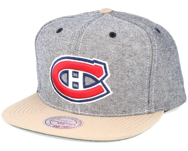 ffd9d944a73 Montreal Canadiens Denim Khaki Snapback - Mitchell   Ness caps ...