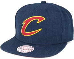 Cleveland Cavaliers Navy Heather Snapback - Mitchell & Ness