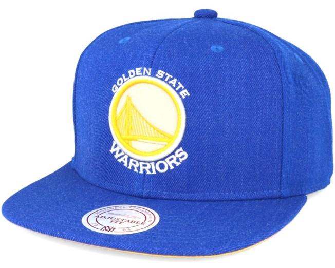 Golden State Warriors Royal Heather Snapback - Mitchell & Ness