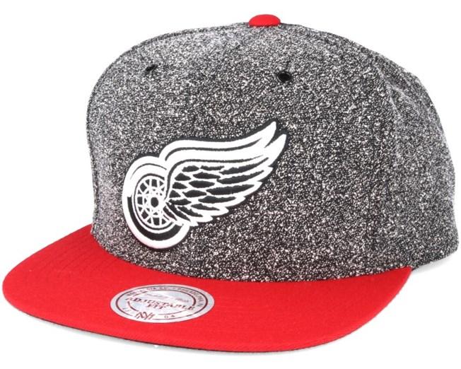 online store 52929 bb77d Detroit Red Wings Black Olive Static Snapback - Mitchell   Ness