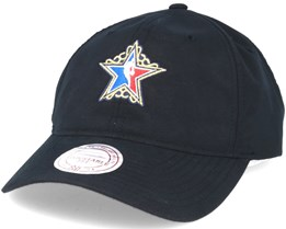 Peached Oxford Allstar Black Dad Cap Adjustable - Mitchell & Ness