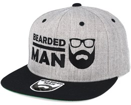 BMLogo Grey/Black Snapback - Bearded Man
