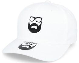 Logo White Flexfit - Bearded Man