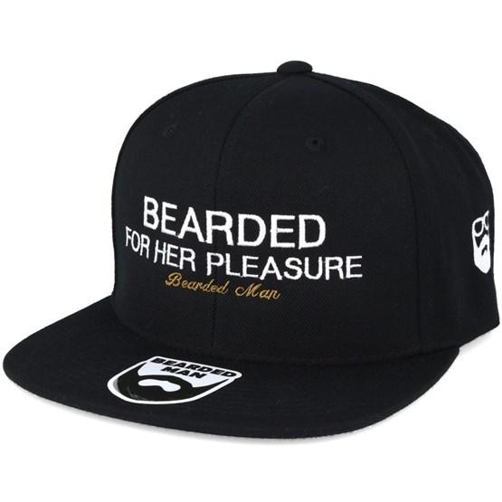 96b62604a Pleasure Black Snapback - Bearded Man