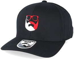 Split Logo R/W Black Flexfit - Bearded Man