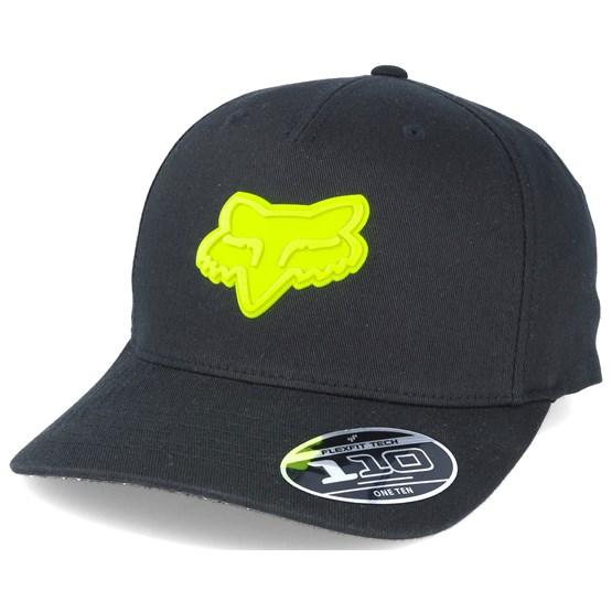 Keps Emergency 110 Black/Yellow Adjustable - Fox - Svart Reglerbar
