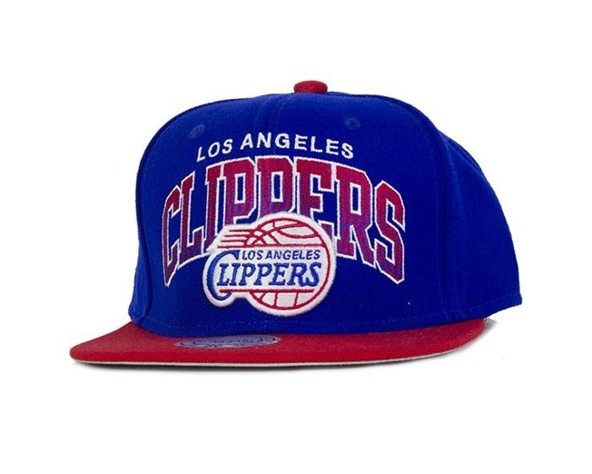 2249f98e282 LA Clippers NBA Stack Snapback - Mitchell   Ness cap - Hatstore.co.in