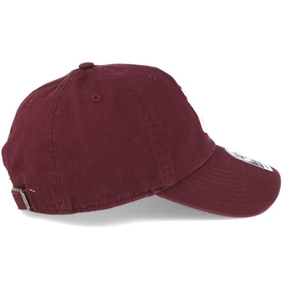 45293bbd736 New York Yankees `47 Clean Up Maroon Red Adjustable - 47 Brand caps -  Hatstoreworld.com