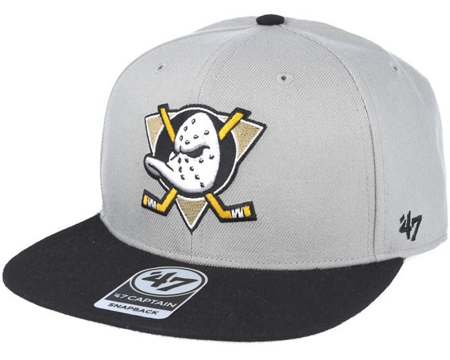c615bd00dec Anaheim Ducks Sure Shot Captain Beige black Snapback - 47 Brand caps ...