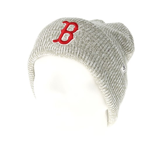 Boston Red Sox Brain Freeze Gray Cuff - 47 Brand beanies  ee34f914c