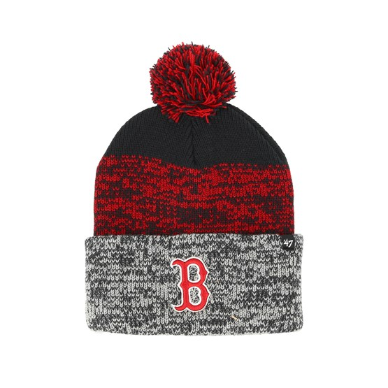 092716c9d6c3 Boston Red Sox Static Knit Navy/Red/Grey Pom - 47 Brand beanies -  Hatstoreworld.com