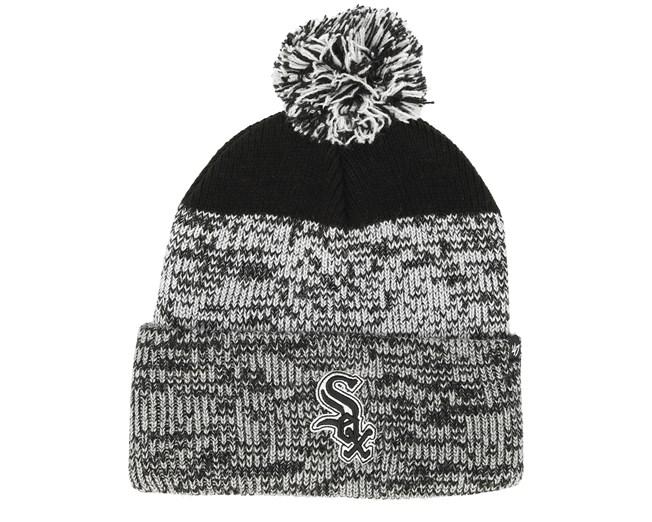 Chicago White Sox Static Knit Black Grey Pom - 47 Brand beanie -  Hatstore.co.in c60a1c1b8