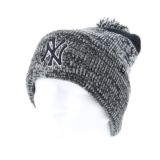 c6a4eaff8 New York Yankees Static Knit Navy/Grey Pom - 47 Brand