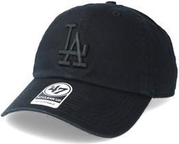 Los Angeles Dodgers Clean Up Black Adjustable - 47 Brand