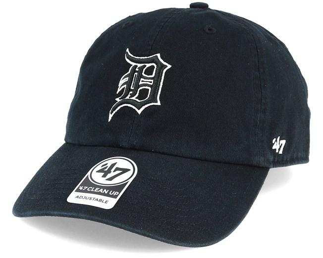 newest bf789 27790 Detroit Tigers Clean Up Black Adjustable - 47 Brand caps - Hatstoreworld.com