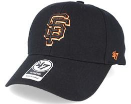San Francisco Giants Mvp Black Adjustable - 47 Brand