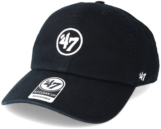 a38c2282d52 47 Brand Logo Clean Up Black Adjustable - 47 Brand caps - Hatstoreworld.com