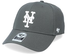 New York Mets Mvp Charcoal/White Adjustable - 47 Brand