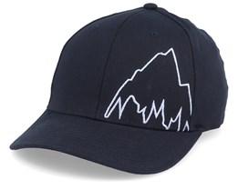 Mountain Slidestyle True Black/White Flexfit - Burton