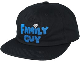 Family Guy Unstructured Black Snapback - Diamond