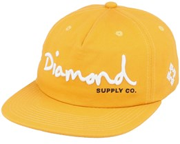 Script Unstructured Mustard Snapback - Diamond