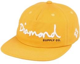 Script Unstructured Mustard Snapback - Diamond