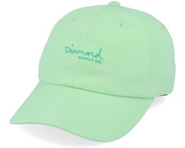 Script Sports Hat Mint Adjustable - Diamond
