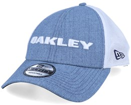 New Era Hat Heather Blue/White Trucker - Oakley