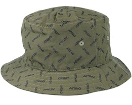Logo Hat Dark Green/Black Bucket - Oakley